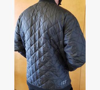 Terra Black Quilted Jacket - Back