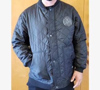 Terra Black Quilted Jacket - Front